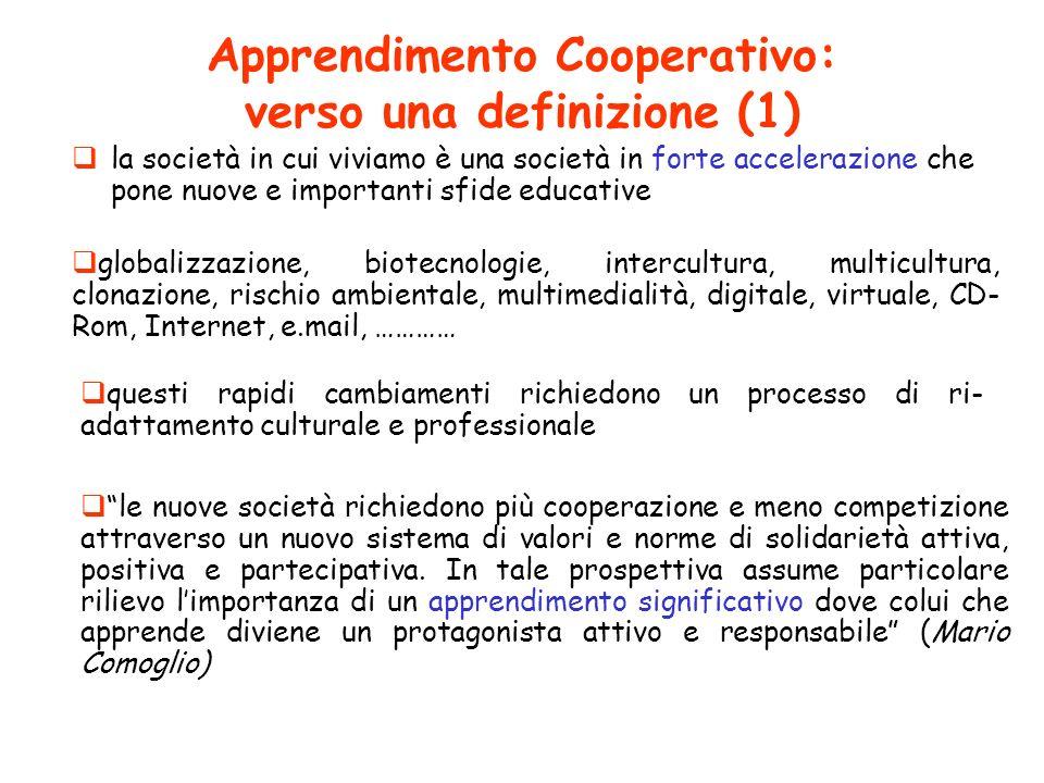 Apprendimento Cooperativo: verso una definizione (1)