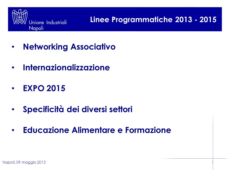 Networking Associativo Internazionalizzazione EXPO 2015