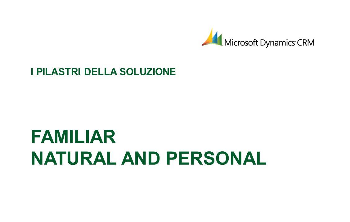 I pilastri della soluzione Familiar Natural and Personal