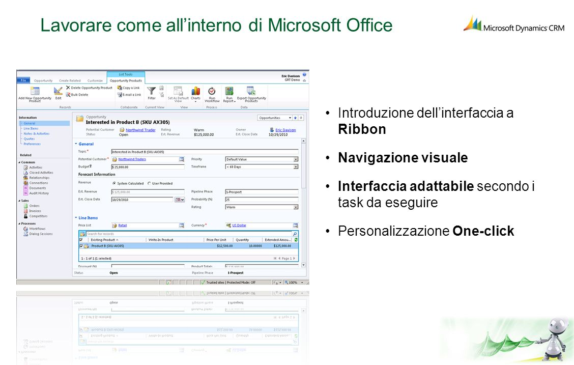 Lavorare come all'interno di Microsoft Office