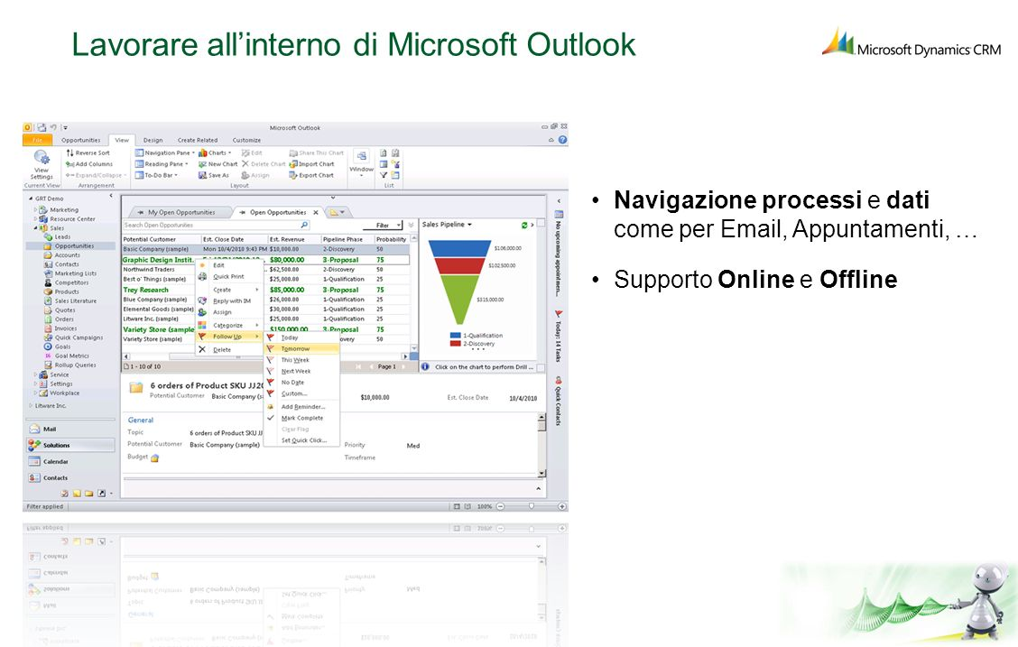Lavorare all'interno di Microsoft Outlook