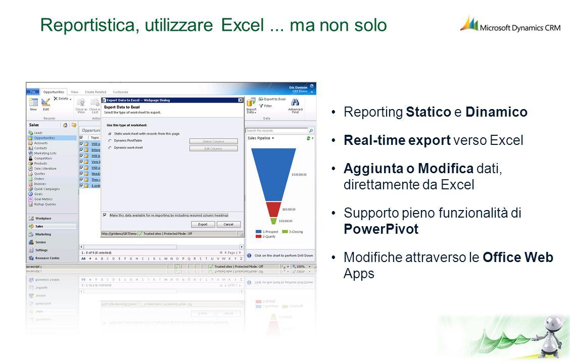 Reportistica, utilizzare Excel ... ma non solo