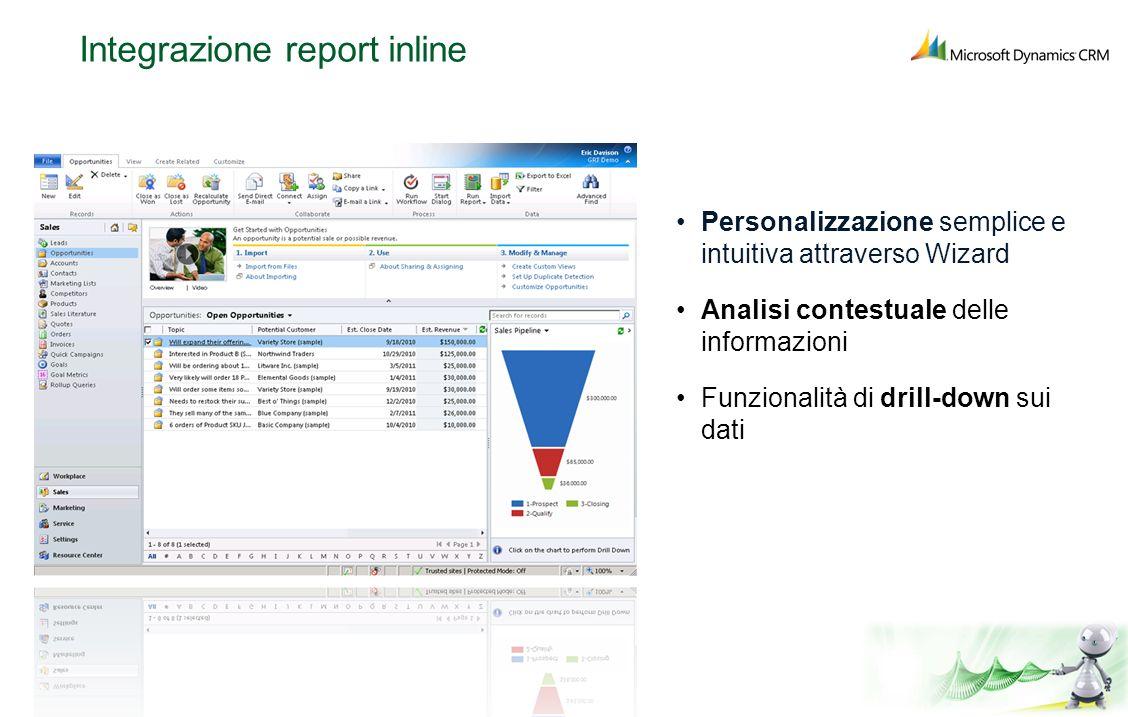 Integrazione report inline