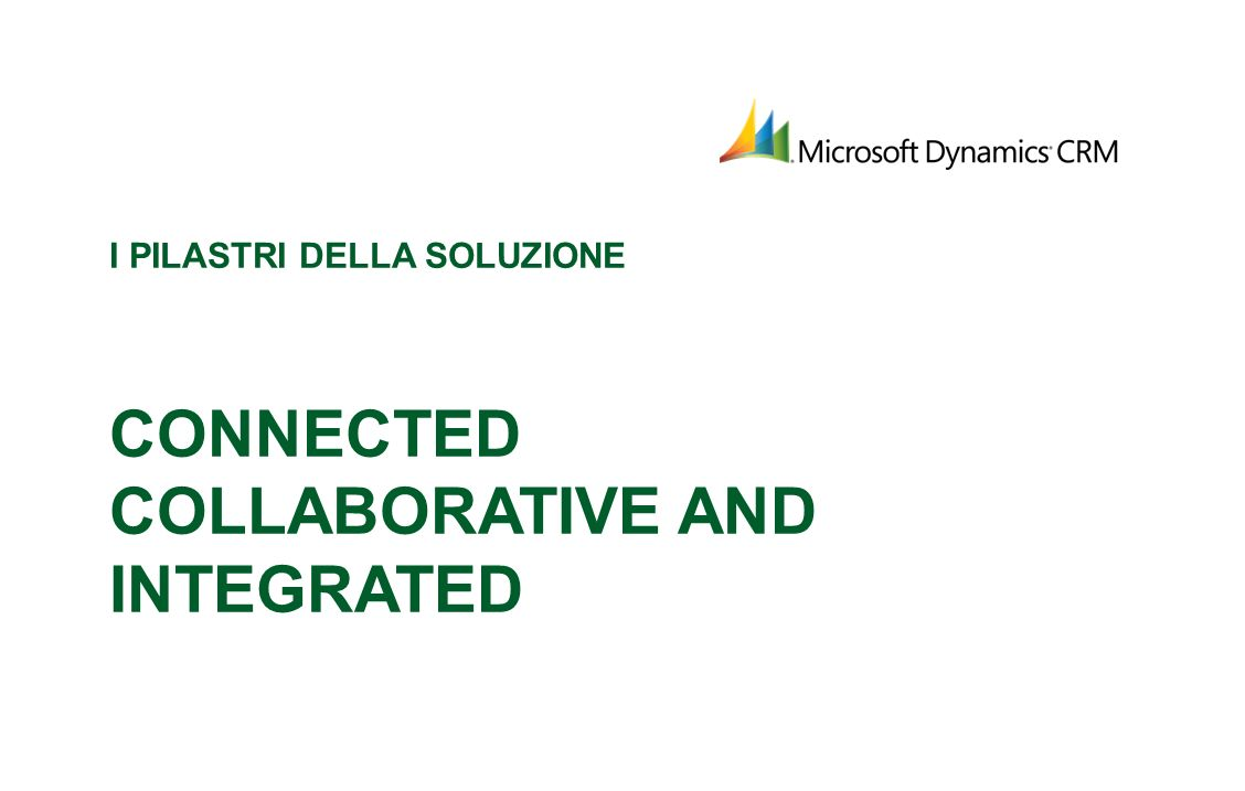 I pilastri della soluzione Connected Collaborative and Integrated