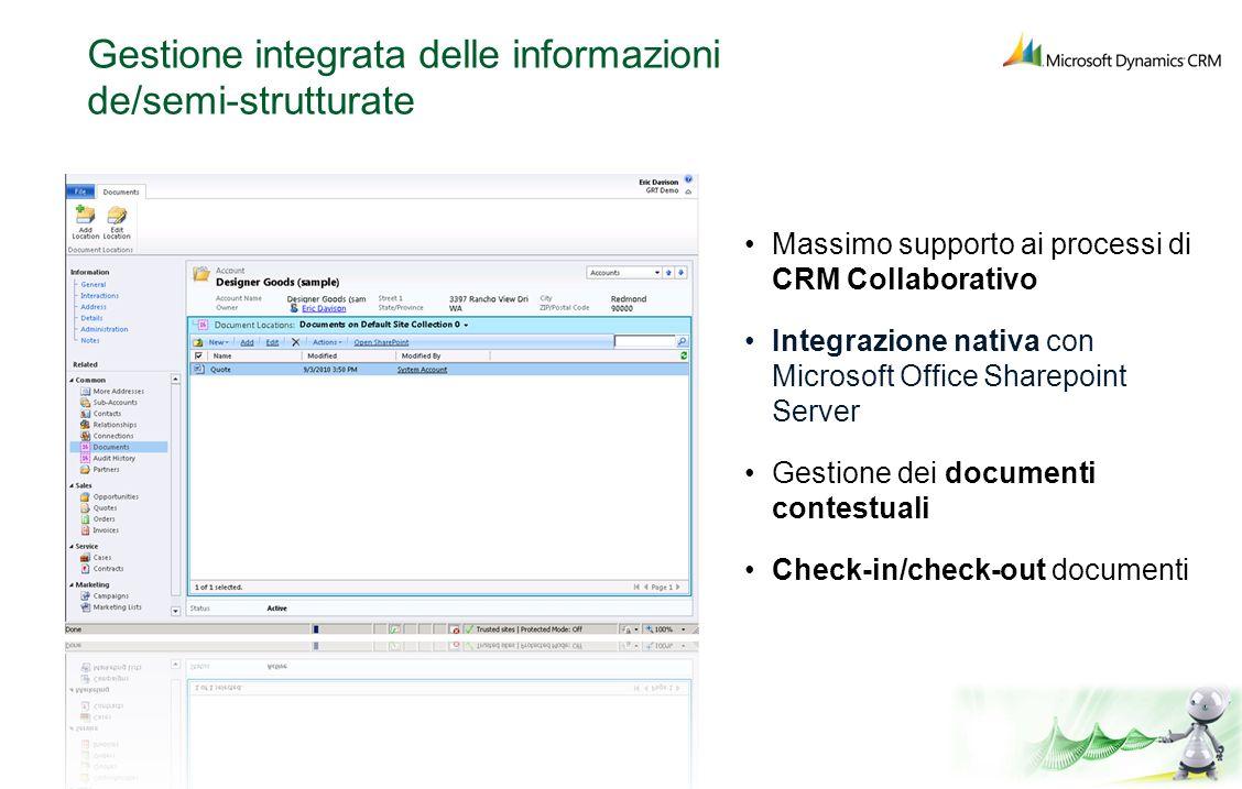 Gestione integrata delle informazioni de/semi-strutturate