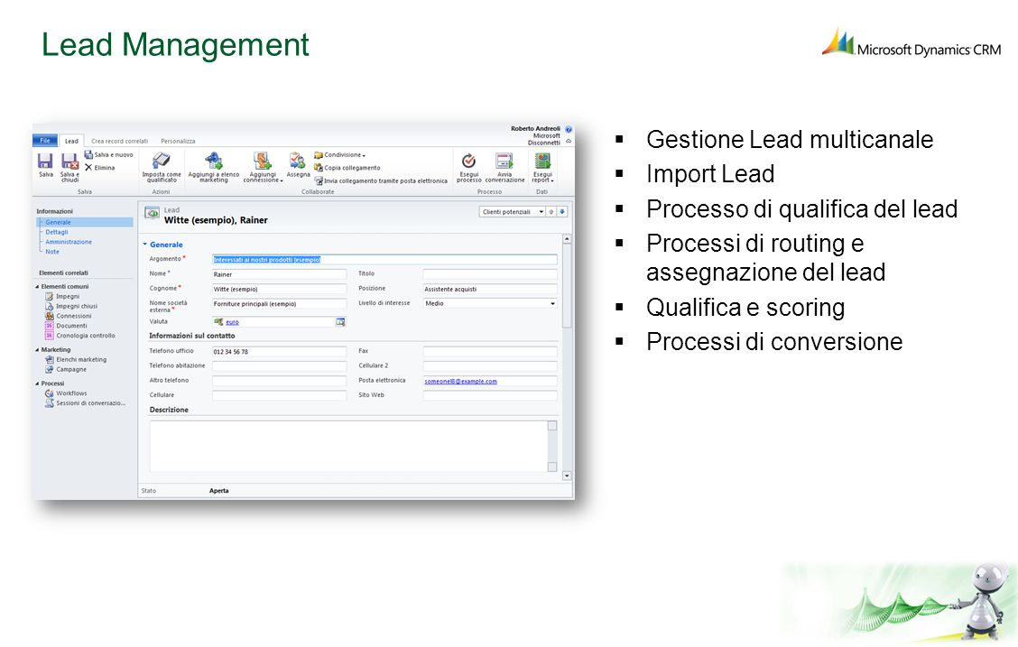 Lead Management Gestione Lead multicanale Import Lead