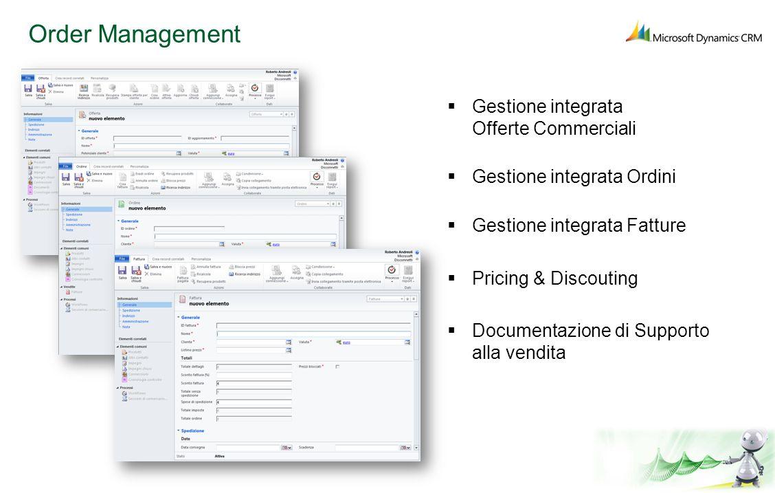 Order Management Gestione integrata Offerte Commerciali