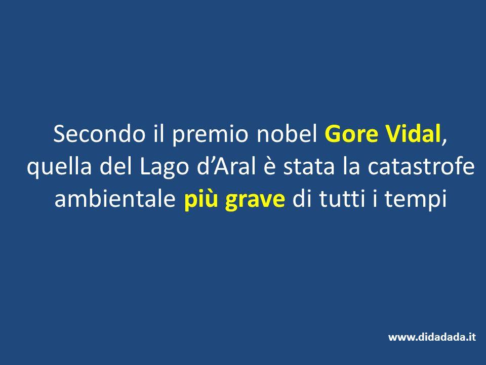 Secondo il premio nobel Gore Vidal, quella del Lago d'Aral è stata la catastrofe ambientale più grave di tutti i tempi