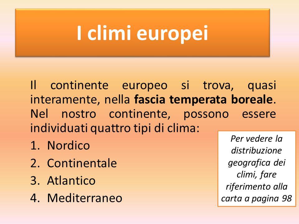 I climi europei