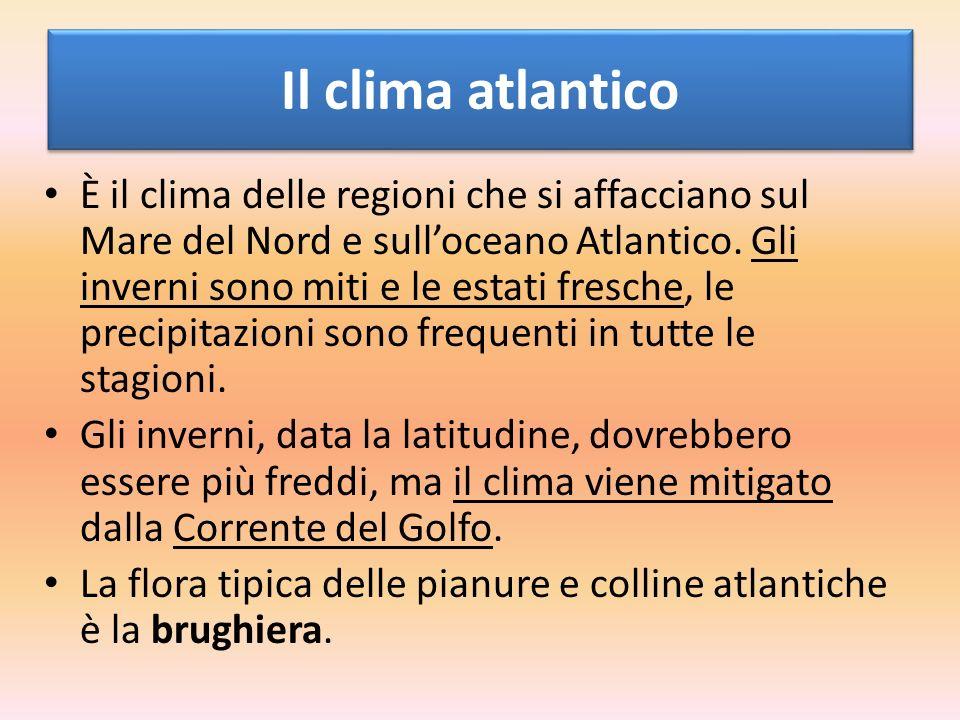 Il clima atlantico