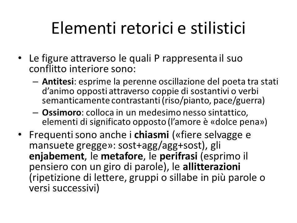 Elementi retorici e stilistici