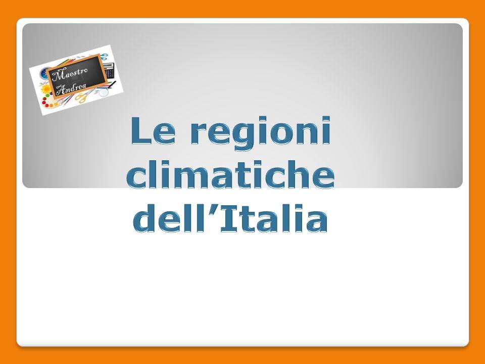Le regioni climatiche dell'Italia
