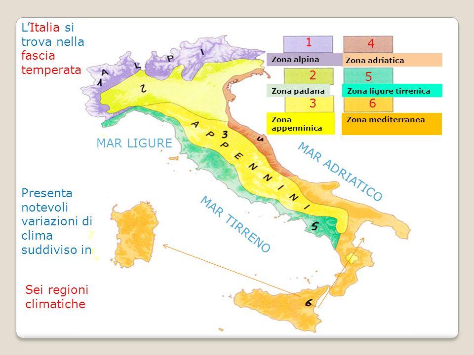 L'Italia si trova nella fascia temperata 1 4