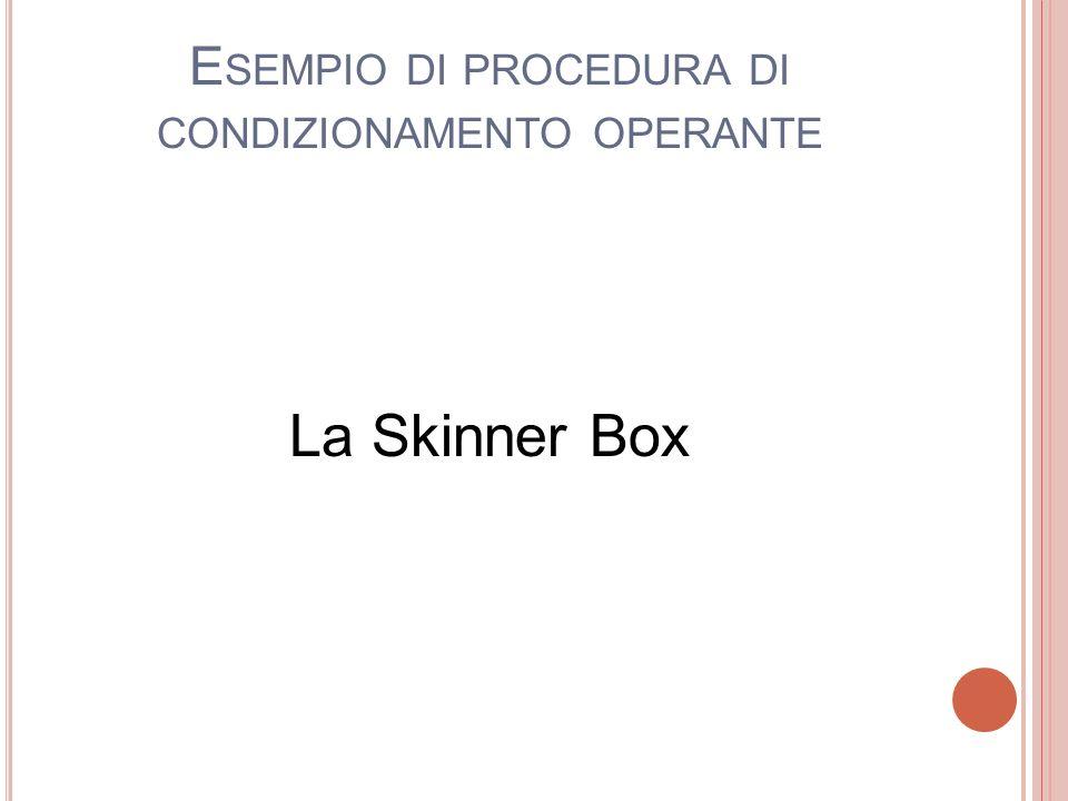 Esempio di procedura di condizionamento operante