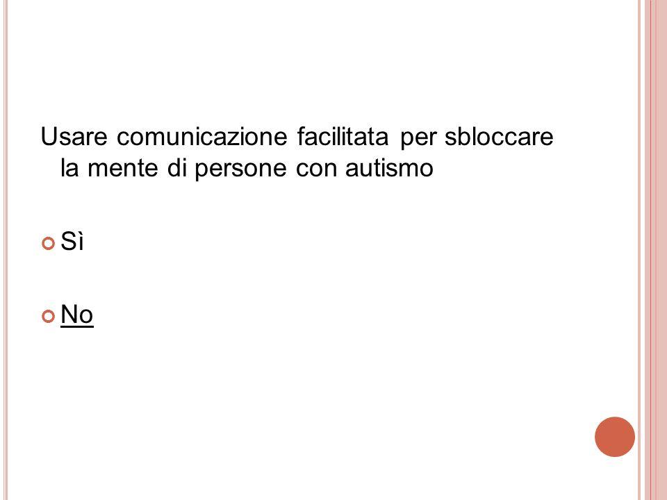 Usare comunicazione facilitata per sbloccare la mente di persone con autismo