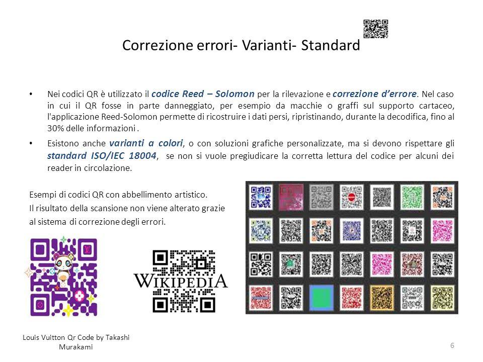 Correzione errori- Varianti- Standard