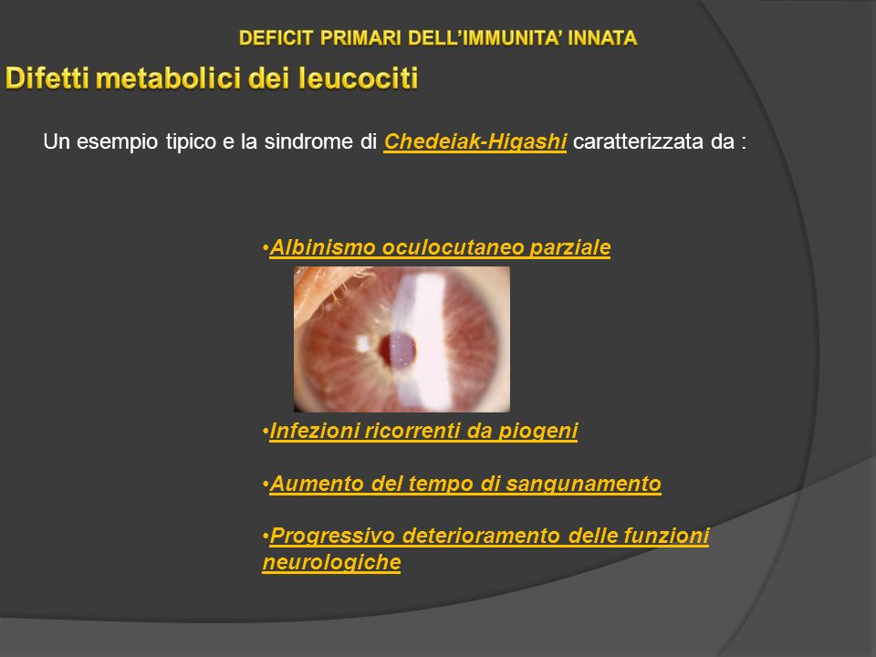 DEFICIT PRIMARI DELL'IMMUNITA' INNATA Difetti metabolici dei leucociti