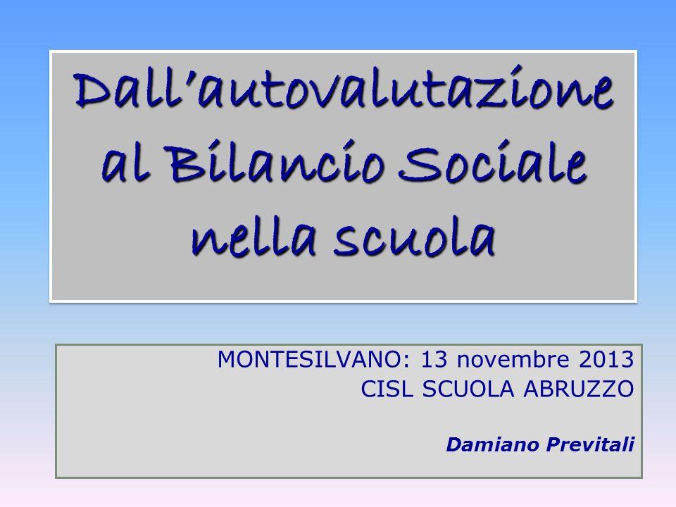 Dall'autovalutazione al Bilancio Sociale nella scuola