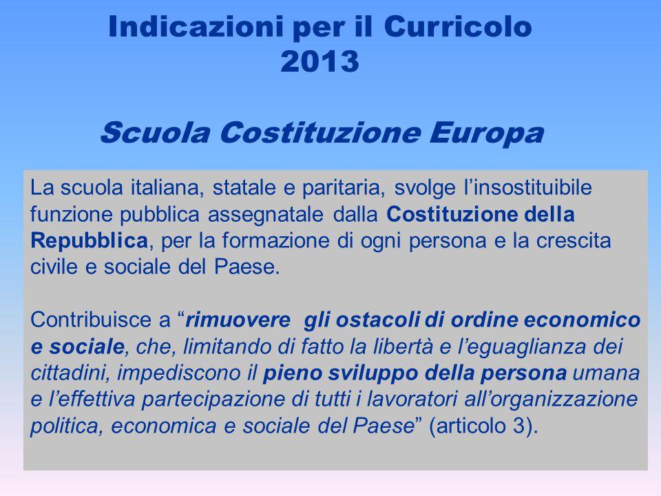 Indicazioni per il Curricolo 2013