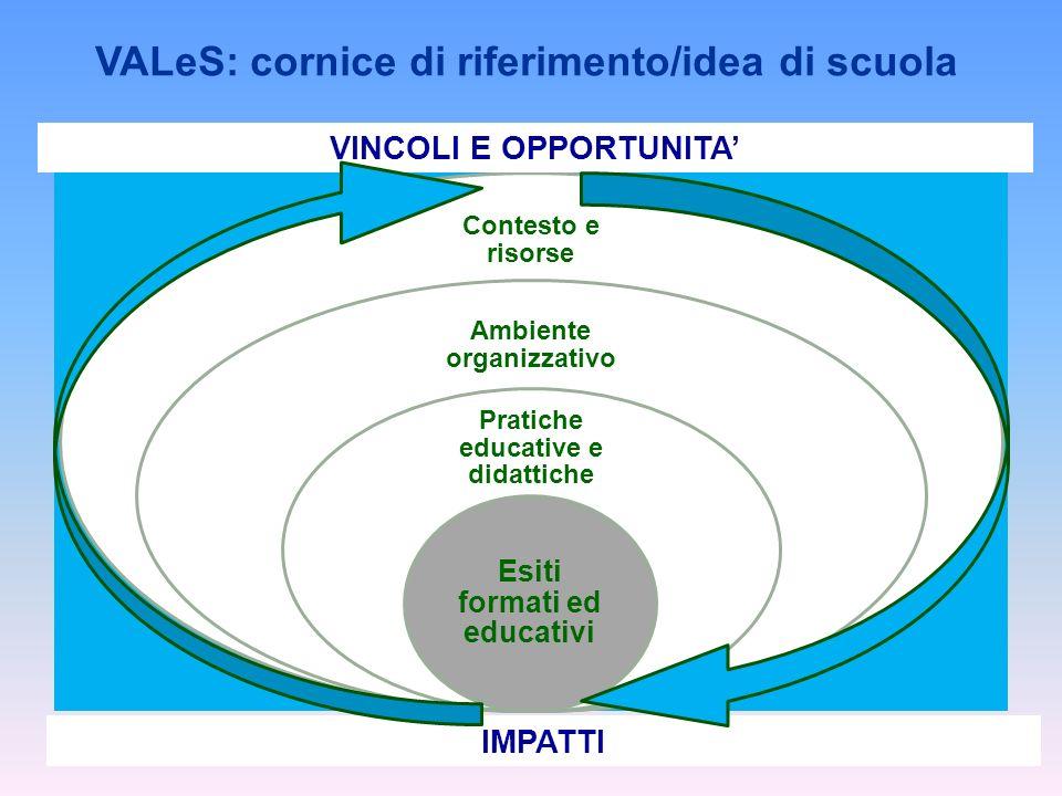 VALeS: cornice di riferimento/idea di scuola VINCOLI E OPPORTUNITA'
