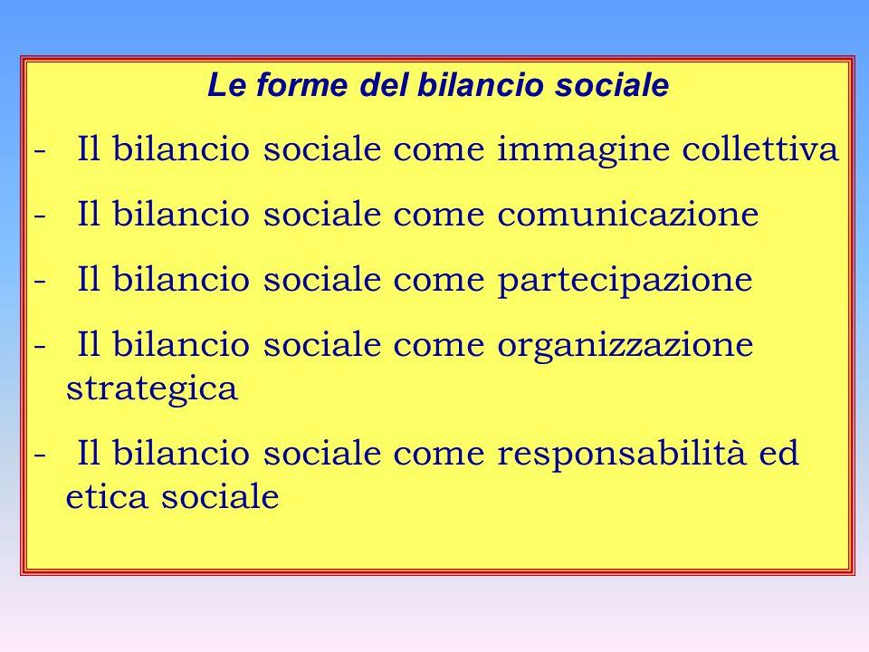 Le forme del bilancio sociale