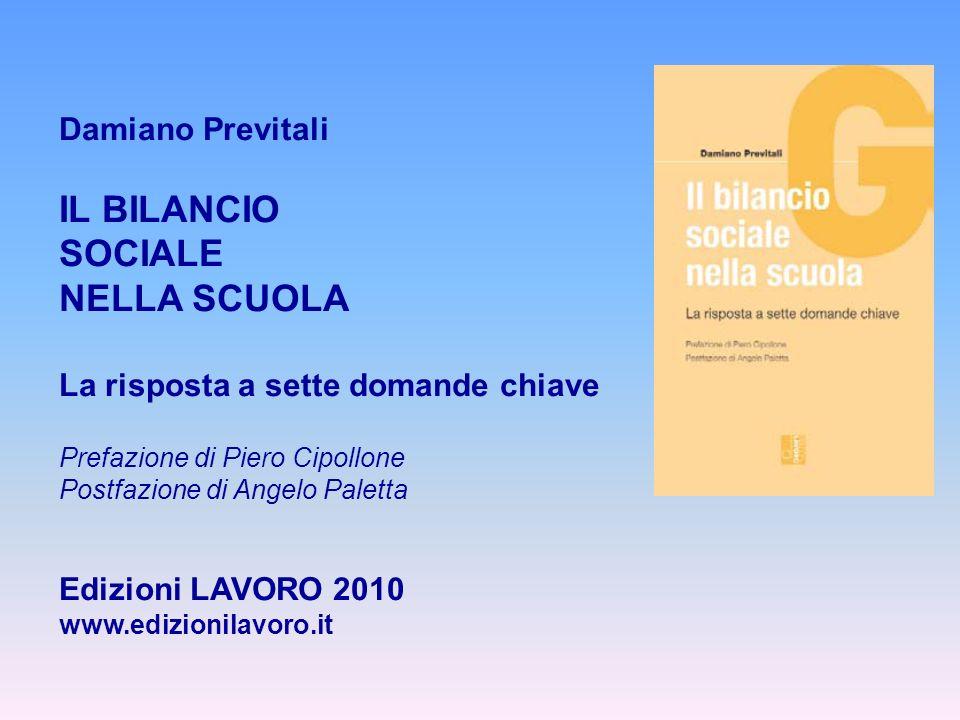 IL BILANCIO SOCIALE NELLA SCUOLA Damiano Previtali