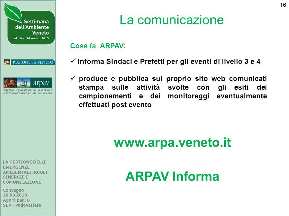 www.arpa.veneto.it ARPAV Informa