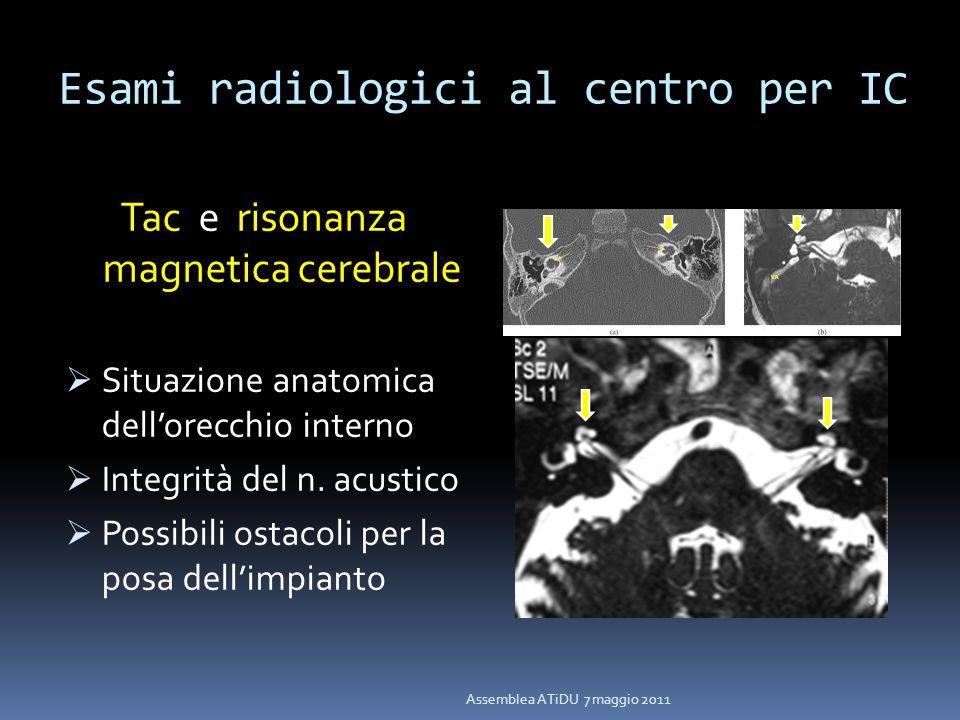 Esami radiologici al centro per IC