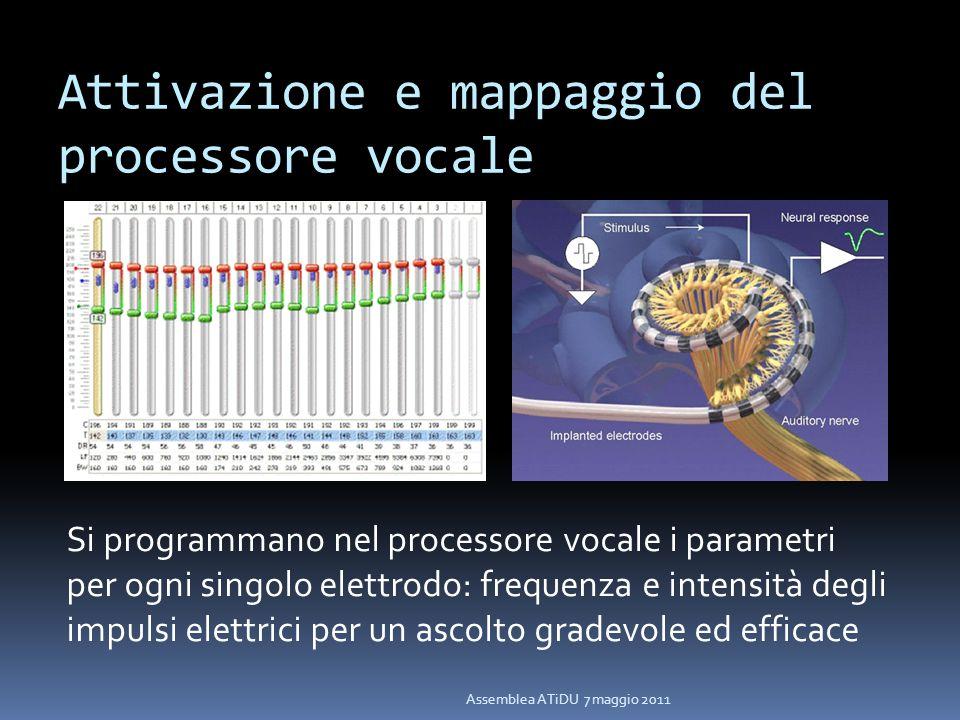 Attivazione e mappaggio del processore vocale
