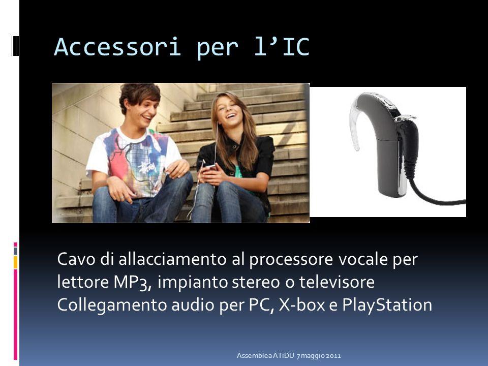 Accessori per l'IC Cavo di allacciamento al processore vocale per lettore MP3, impianto stereo o televisore.