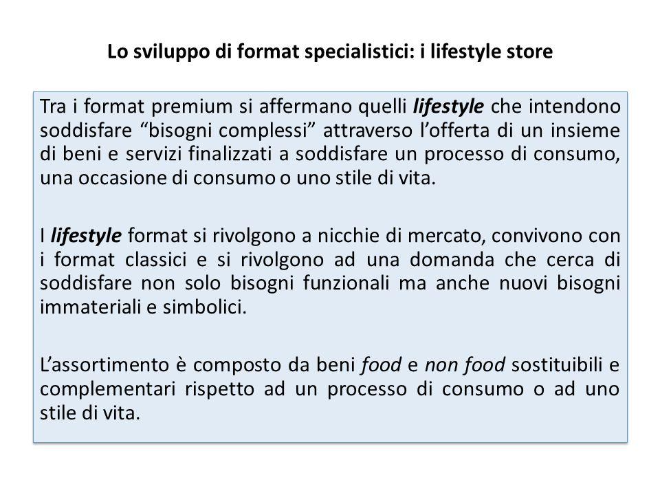 Lo sviluppo di format specialistici: i lifestyle store