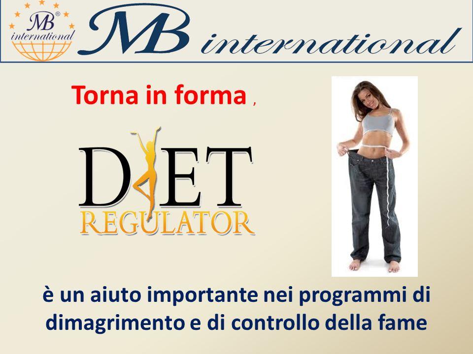 Torna in forma , è un aiuto importante nei programmi di dimagrimento e di controllo della fame