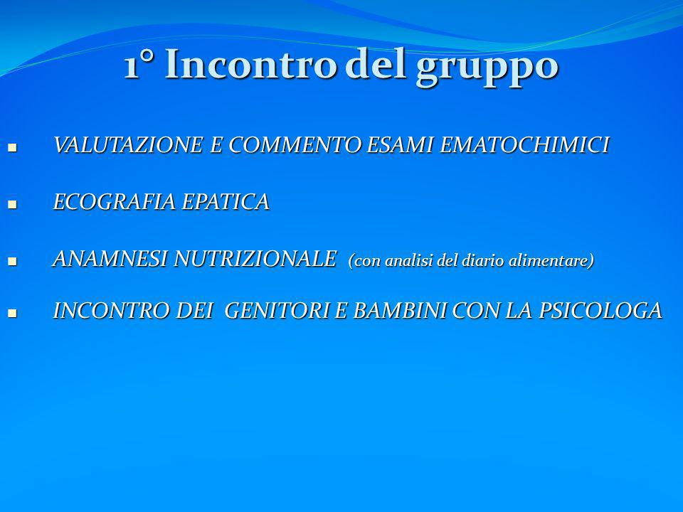 1° Incontro del gruppo VALUTAZIONE E COMMENTO ESAMI EMATOCHIMICI