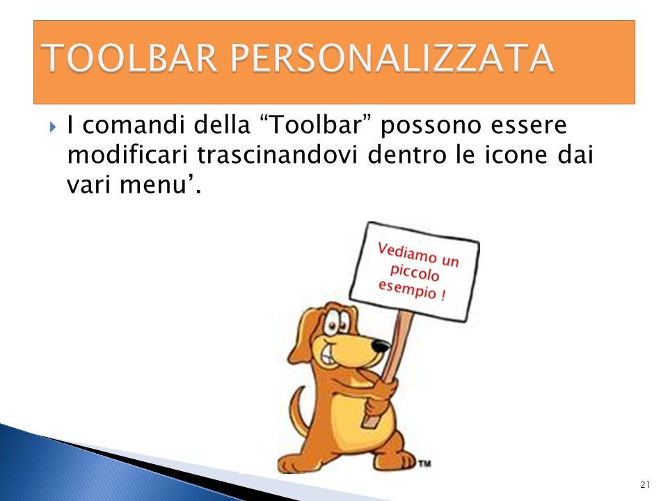 TOOLBAR PERSONALIZZATA