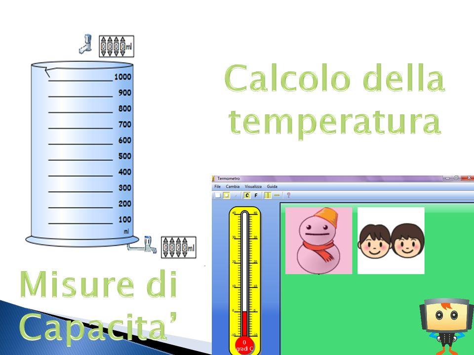 Calcolo della temperatura Misure di Capacita'