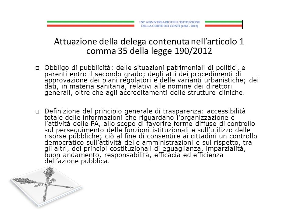 Attuazione della delega contenuta nell'articolo 1