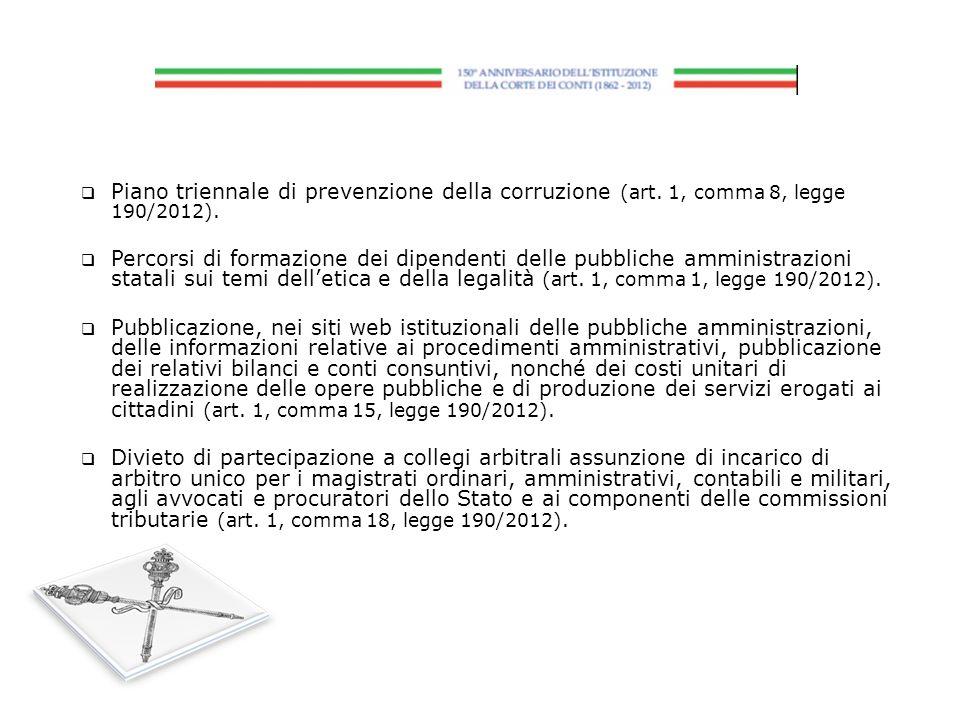 Piano triennale di prevenzione della corruzione (art