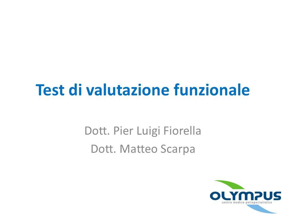 Test di valutazione funzionale
