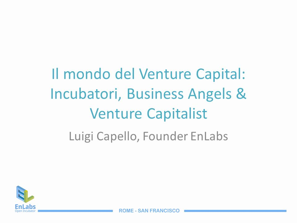 Luigi Capello, Founder EnLabs