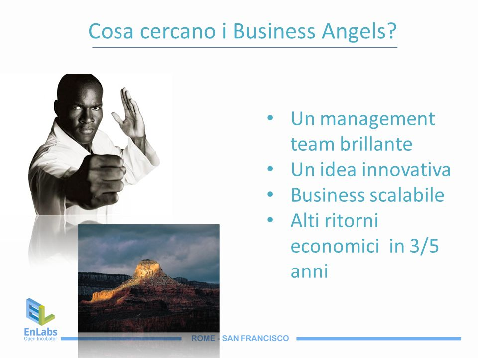 Cosa cercano i Business Angels