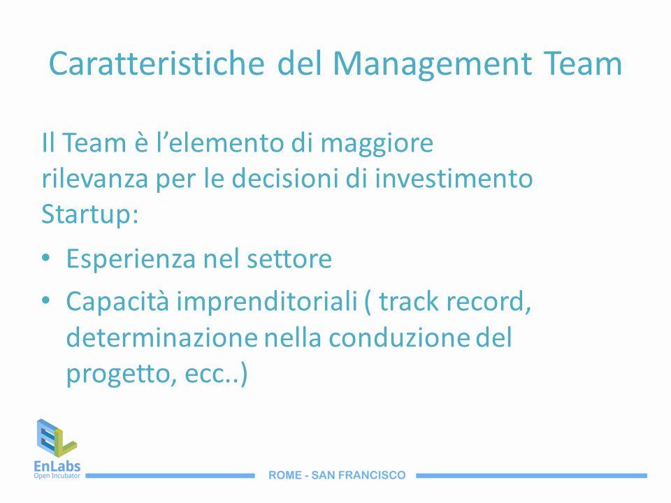 Caratteristiche del Management Team