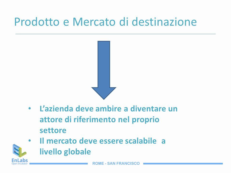 Prodotto e Mercato di destinazione