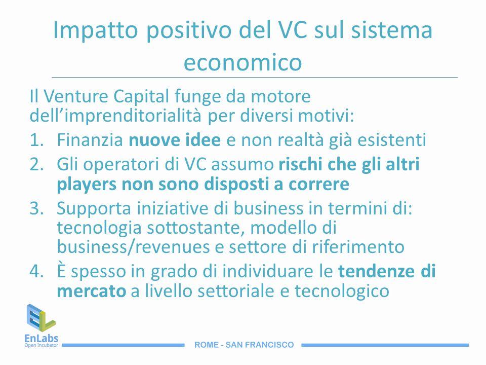 Impatto positivo del VC sul sistema economico