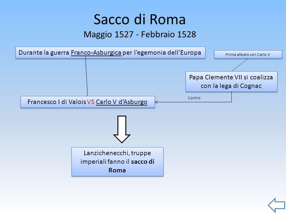 Sacco di Roma Maggio 1527 - Febbraio 1528