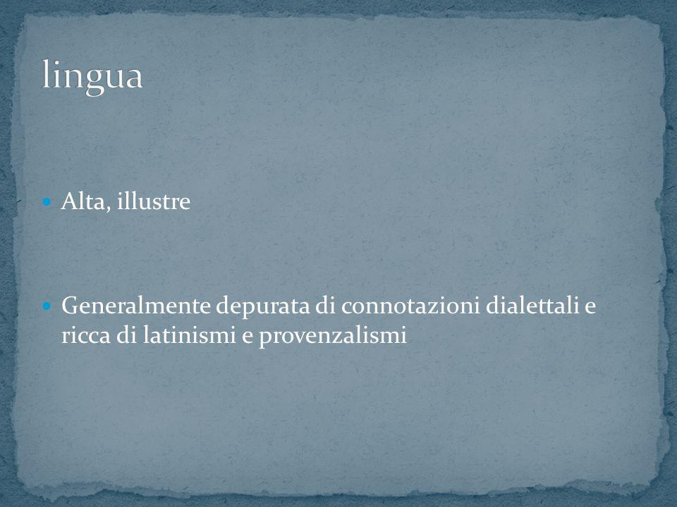 lingua Alta, illustre.