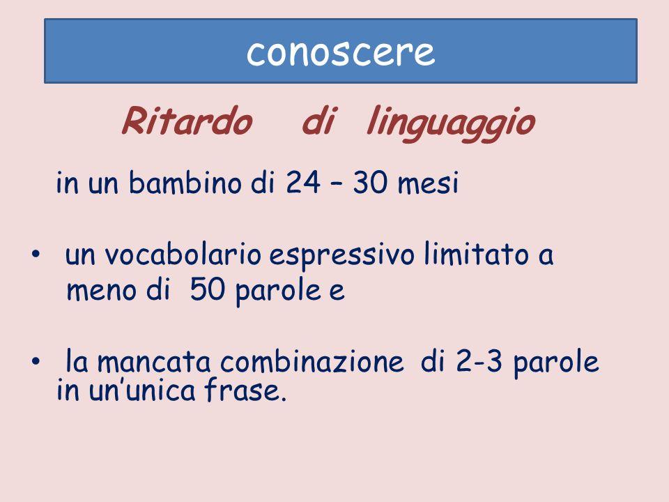 conoscere Ritardo di linguaggio un vocabolario espressivo limitato a