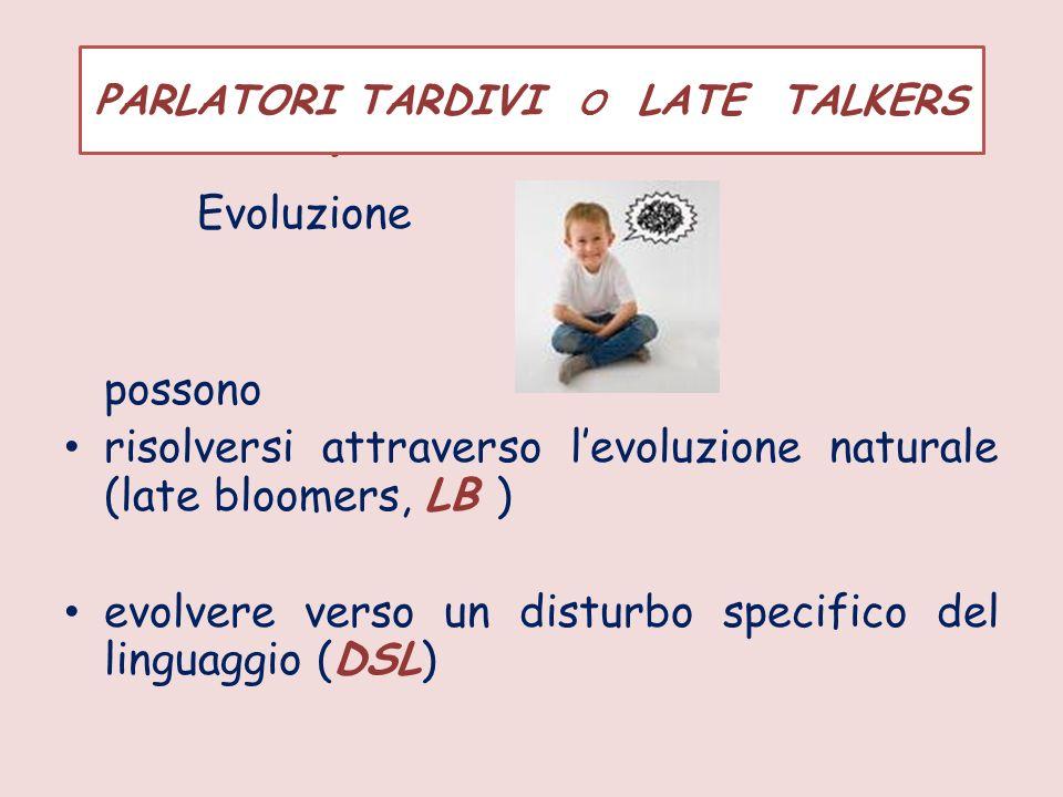 EVOLUZIONE I parlatori tardivi