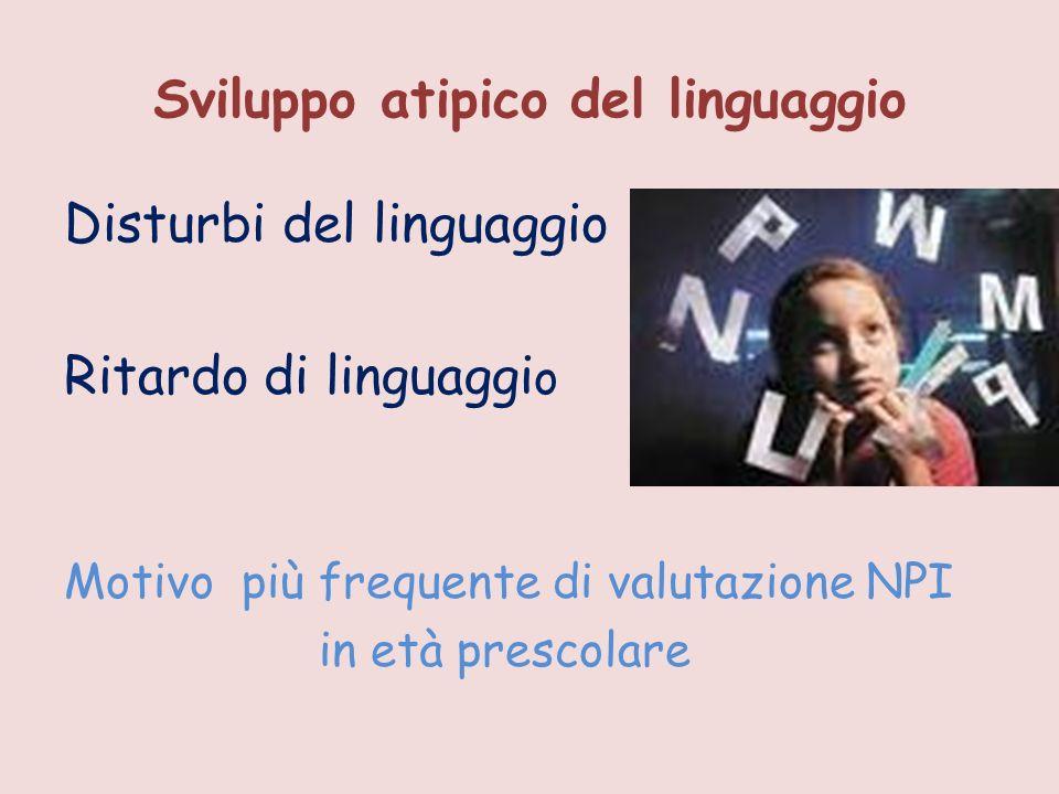 Sviluppo atipico del linguaggio