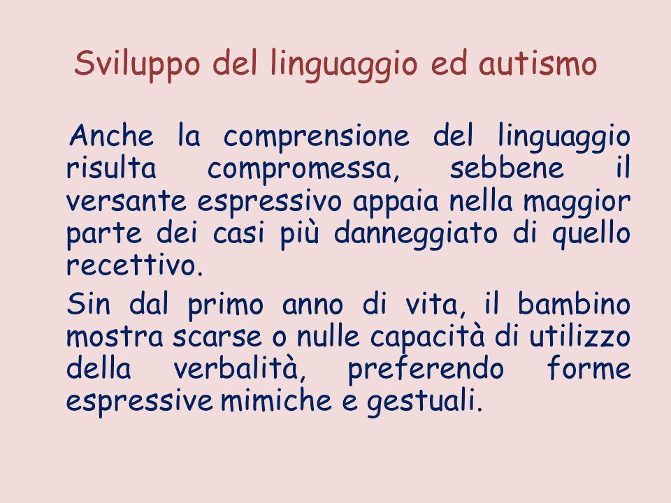 Sviluppo del linguaggio ed autismo