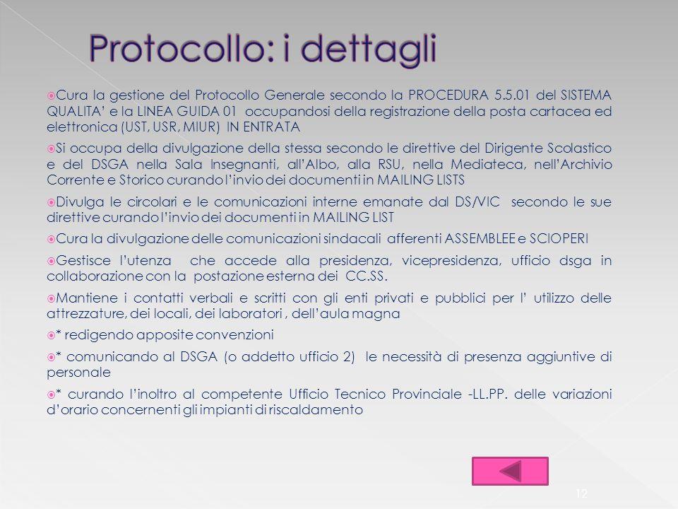 Protocollo: i dettagli